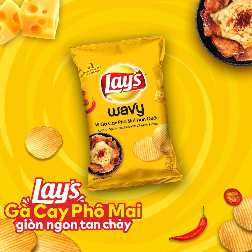 Lay's Wavy vị Gà Cay Phô Mai Hàn Quốc